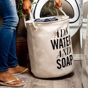 Add Water and Soap Laundry Basket w/ Lingerie Bag